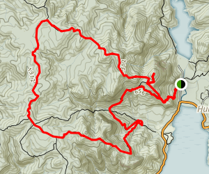 Goat Hill to Twin Peaks Track to Huia Ridge Track and Mount Donald Mclean Track Map
