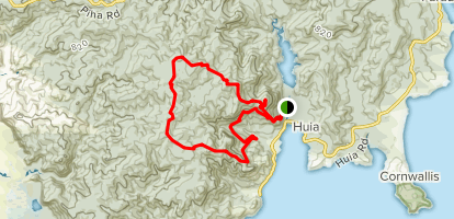 Goat Hill to Twin Peaks Track to Huia Ridge Track and Mount Donald Mclean Track [CLOSED] Map