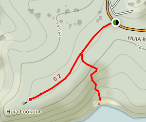 Huia Lookout Map
