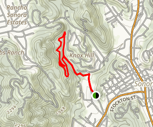 Dragoon Gulch Trail Map