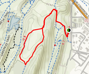 Red Rock Rim Trail from Parking Lot 3 Map