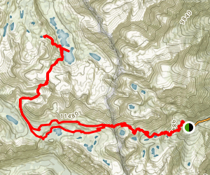 Onion Valley Campground to Rae Lakes via Kearsarge Pass Map