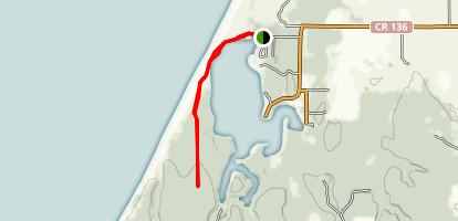 Floras Lake to Oregon Coast Trail Map