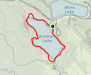 Kimball Lake Fishing Trail Map