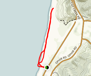 Ophir Trail to Euchre Creek Mouth Map