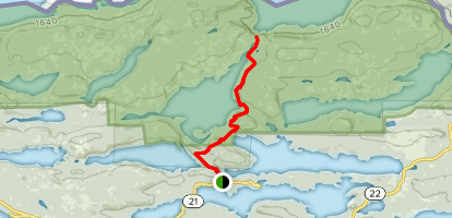 Caribou Rock Trail Map
