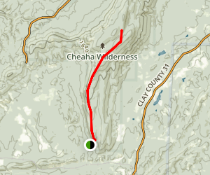 Odum Trail to Odum Point Map