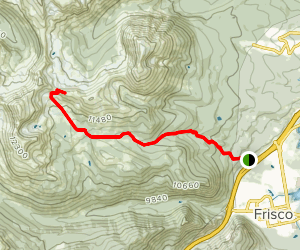 Meadow Creek Trail to Eccles Pass Map