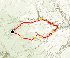 Fortymile Gulch and Willow Gulch Alternate Loop Map