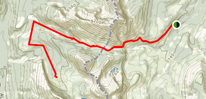 Racehorse Pass to Delams Trail Map