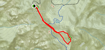 Willard Peak via North Skyline Trail Map