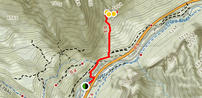 Lost Creek Falls Trail Map
