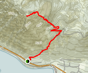 Dirtyface Peak Trail Map