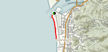 Rogue River South Jetty Trail Map