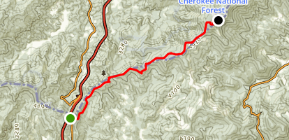 Big Bald via Appalachian Trail Map