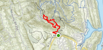 South Ridge and Horsetooth Rock Trail Loop Map