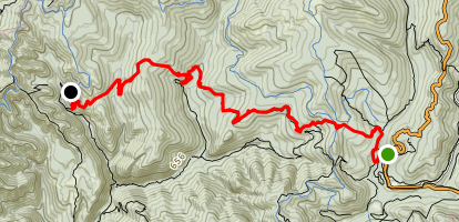 Big Basin to Sunset Camp via Sunset Trail Map