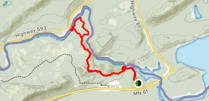 Pigeon Falls and Middle Falls Map
