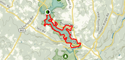 Green Lane Reservoir Blue Trail Loop Map