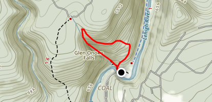 Glenn Oko Falls Shortest Loop Map