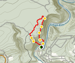 Glen Onoko Falls and Lehigh Gorge Overlook Trail Map
