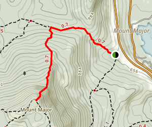 Main Trail (Blue) to Mount Major  Map