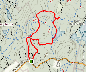 Powisett Peak and Powisett Pond Loop Map