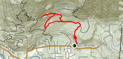 Teneriffe Talus Loop Map