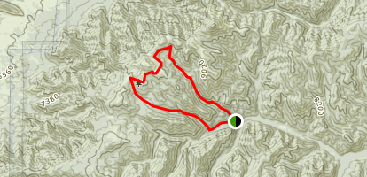 Turkey Canyon to Argentina Canyon Loop Map