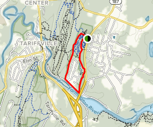 Cowles Park Orange and Yellow Trail Map