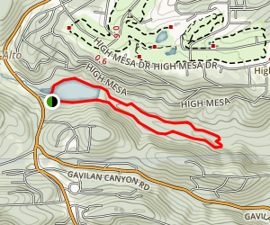 Eagle Creek Trail and Alto Reservoir Loop Map