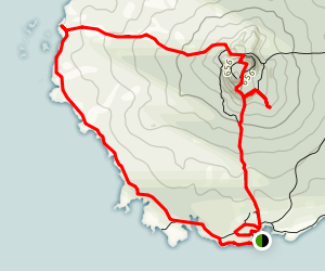 Rangitoto Island Loop Map