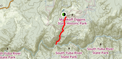 Humbug Trail to the Yuba River Map
