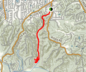 Zombie Trail via Upper Rock Hollow Greenway Map