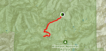Sky High Lakes and Marble Mountain Rim  Map
