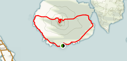 Rangitoto Island Coastal Track to Mackenzie Bay Loop Map