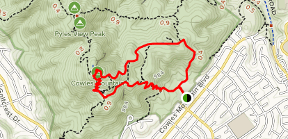 Cowles Mountain Service Road Loop Map