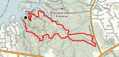 McDowell Nature Preserve Outer Loop Map