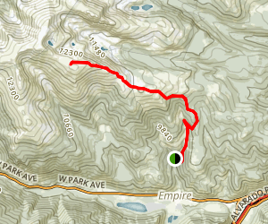Breckenridge Peak Trail Map