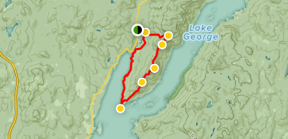 Tongue Mountain Range And Northwest Bay Trail New York Alltrails - Map-us-mountain-ranges