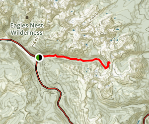 Gore Creek Trail to Buffalo Pass Map