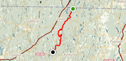 Nipmuck Trail: Breakneck Pond to Perry Hill Road Map