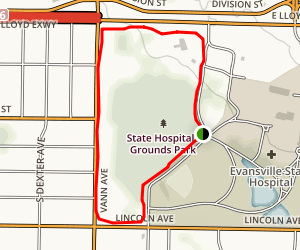 State Hospitals Grounds Park Map