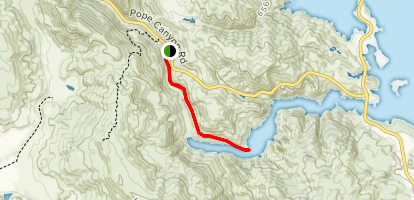Pope Creek Canyon [PRIVATE PROPERTY] Map