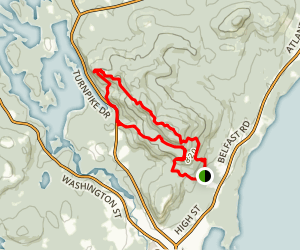 Mount Megunticook, Maiden Cliff, and Mount Battie Loop Map