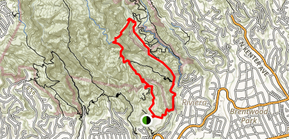 Rustic Canyon Loop Trail Map