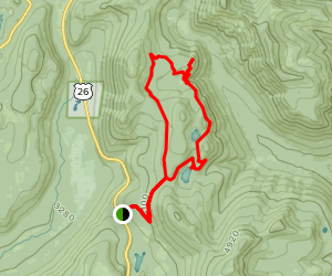 Twin Lakes and Palmateer Point Loop Hike Map