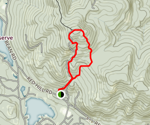 Red Hill Fire Tower Loop Trail Map