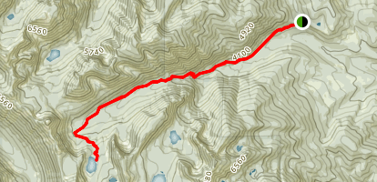 Sky Lakes and Hanging Valley Trail Map