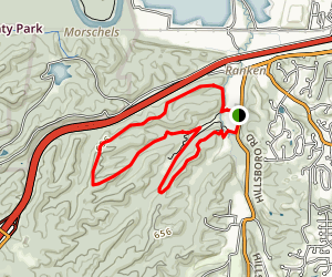 Yellow Trail and Dogwood Ridge Loop Map